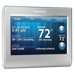 Honeywell Smart Thermostat, Wi-Fi, Touchscreen, Works with Amazon Alexa