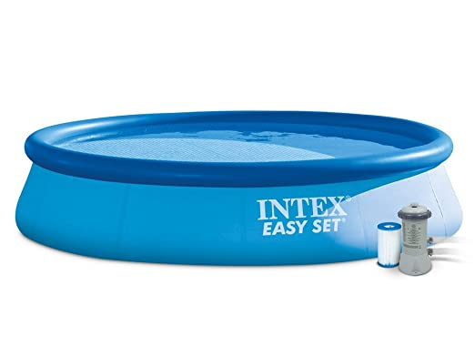 INTEX Easy Set - Piscina con Bomba de Filtro, 396 x 84 cm: Amazon ...