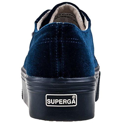 Superga Womens 2790 Velvetw Velvet Trainers Dark Blue fuoNvK