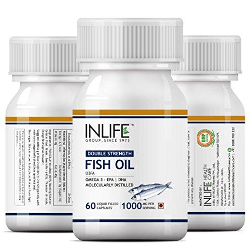 Inlife Fish Oil Omega 3 Fatty Acids With Epa 360 Mg Dha 240 Mg Supplement 1000 Mg (Per Serving) - 60 Liquid Capsules