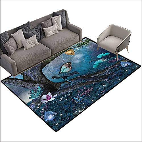 Bathroom Carpet Fantasy,Mystical Woods Enchanted 60