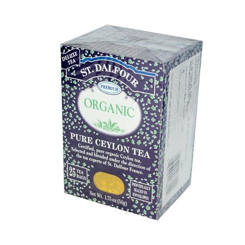 St. Dalfour Organic Tea, Pure Ceylon, 25 ct
