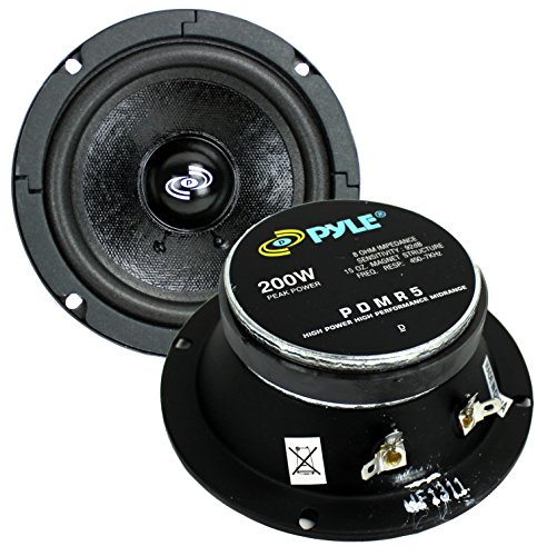 2) PYLE Pro PDMR5 5' 400W Car DJ/Home Mid Bass MidRange Speakers Drivers Audio