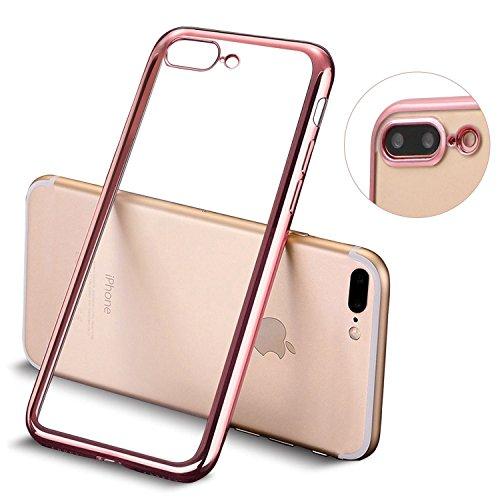 """VSHOP ® iPhone 7 Étui Coque Clair Ultra-Mince Silicone Gel Housse Coque de protection TPU Case pour iPhone 7 4.7"""" Rose"""