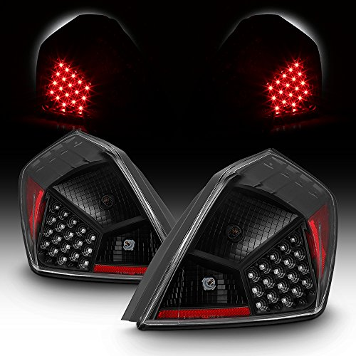 For 07-12 Nissan Altima L32A 4DR Sedan Black Bezel LED Tail Brake Light Lamp - 4dr Black Led