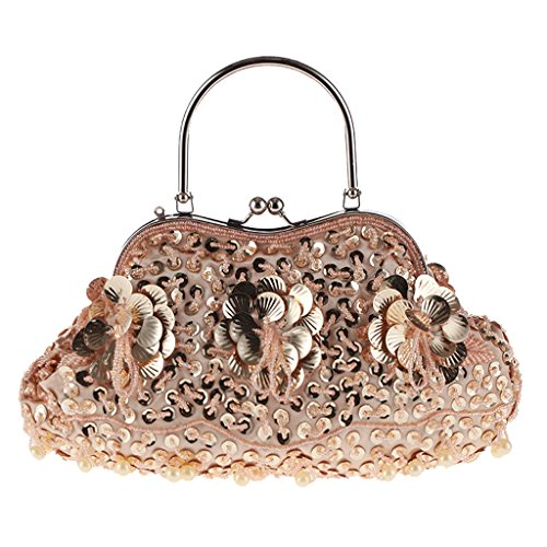 Champage Vintage Gifts Purses Style Wedding Evening BYNNIX Party Bag Women's Beaded Sequins Bags Dinner Wallets fFx6STq