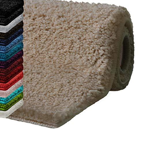 "casa pura Bath Mats for Bathroom - 20"" x 32"" Beige Bathroom Rug | Ultra Absorbent, Self-Dry Microfiber, Non-Slip Bath Mats for Floors | Bath Rugs in 10 Fresh Colors from casa pura"