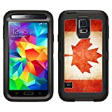 Skin Decal for Otterbox Defender Samsung Galaxy S5 Case - Canada Vintage Flag