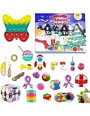 2021 Fidget Adventskalender Speelgoed Set 24 Dagen Kerst Aftelkalender Sensorische Fidget Toys Pack Goedkoop, Fidget Box, Squeeze Speelgoed Stress Relief Toys Pack Xmas Party Favor