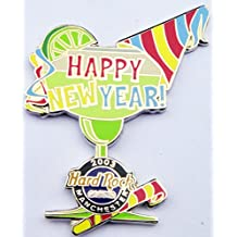 2003 Happy New Year Pin Party Favors Margarita Glass Hard Rock Casino Manchester