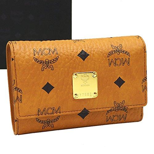 MCM(エムシーエム) 三つ折財布 MYM4SU165 キャメル [中古] B07DMWFBLY