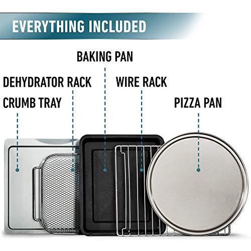 Calphalon Quartz Heat Countertop Toaster Oven, Dark Stainless Steel (Renewed) by Calphalon (Image #3)