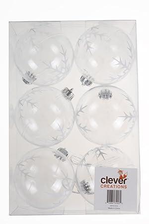Transparente Christbaumkugeln.Amazon De Clever Creations Transparente Christbaumkugeln