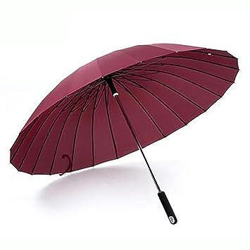 Xuan bastón paraguas, senderismo y caminando ayudar grande y resistente al viento, red wine