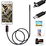 (US) 2 in 1 Android USB Endoscope Inspection 7mm Camera 6 LED HD IP67 Waterproof (10M, Android 7mm 6led)