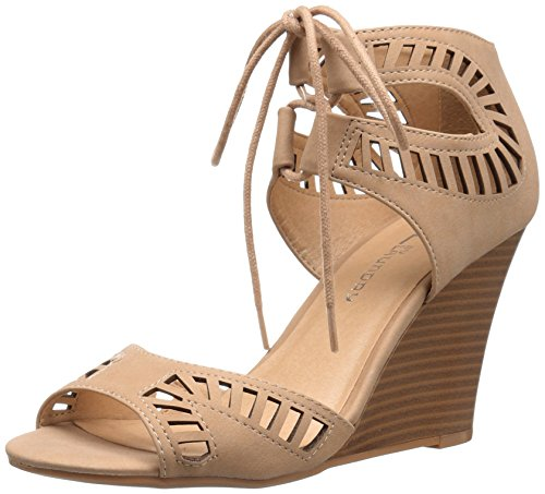 Cl By Chinese Laundry Mujeres Bright Sun Wedge Pump Sandalia Nude Nubuck
