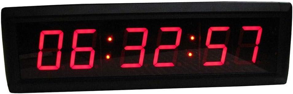 """1.5/"""" DEL Interval Timer salle de gym Horloge murale compte à rebours pour la formation Fitness Crossfit"""