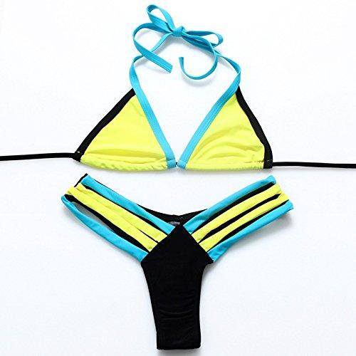 YONGYI La Sra manera europea y americana bikini triángulo correa del verano atractivo del bikini caliente y traje de baño Sra Europa