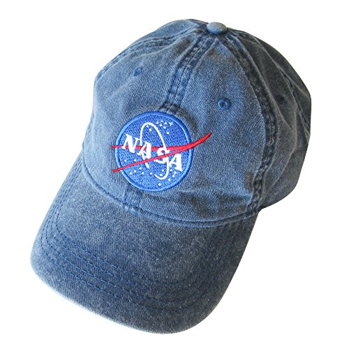 Navy Insignia Cap (NASA insignia Embroidered Pigment Dyed Cap (Navy))