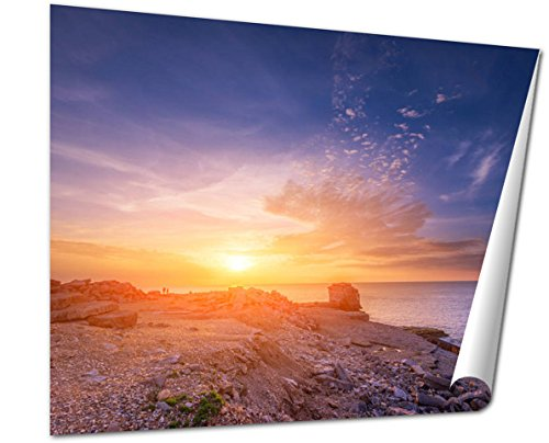 - Ashley Giclee Fine Art Print, Sunset Sea View From Portland Dorset, 16x20, AG6509173