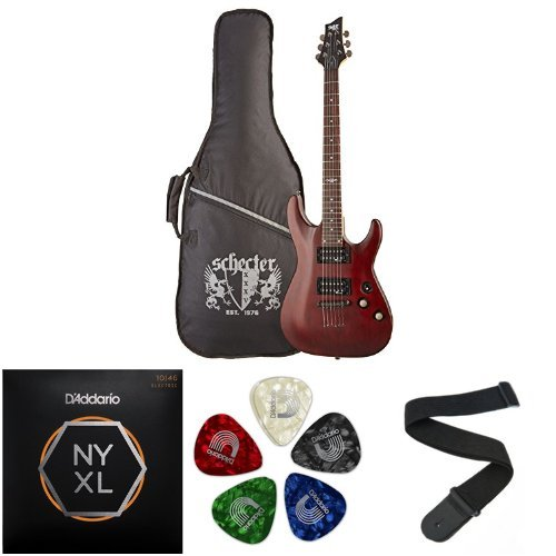 C-1 SGR by Schecter Beginner Electric Guitar -  Walnut Satin (Amazon Exclusive)