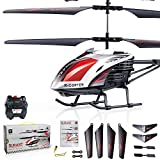 GPTOYS Channel RC Helicopters G610 Indoor Helicopter Gyro Radio Remote Control Helicopter with Led Light RC Toys for boys/girls/adults,Red