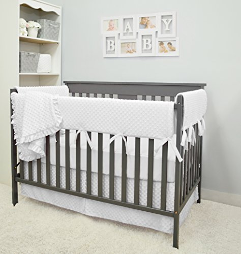 American Baby Company Heavenly Soft 6 Piece Crib Bedding Set, White