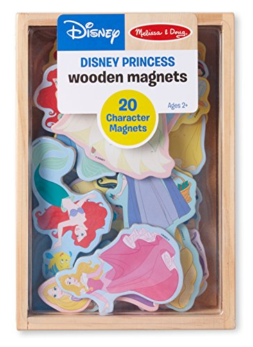 Magnet Fridge Frog - Melissa & Doug Disney Princess Wooden Magnets (Developmental Toy, Wooden Storage Case, 20 Character Magnets)