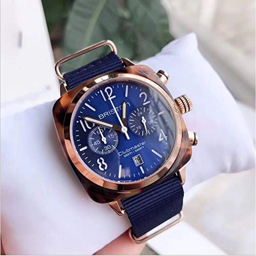 Classic Chronograph Quartz Watches Luxury Watch Japanese Quartz Movement Analog Watches Fashion Watch His or Hers Wristwatch for Men Women Lovers Wedding Romantic Gift Blue dial Watches