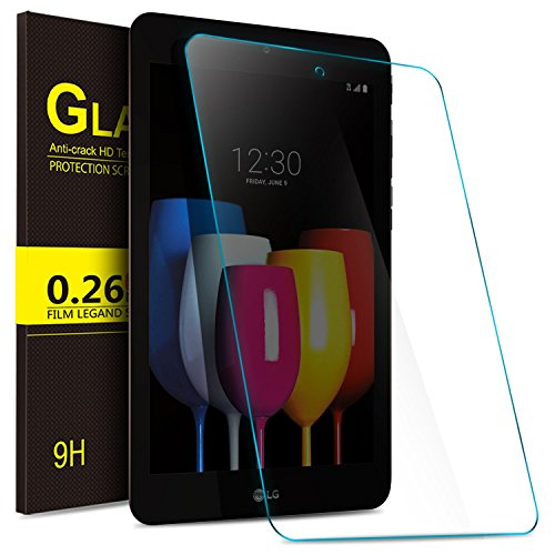IVSO T-Mobile LG G Pad X2 8.0 Plus Tempered-Glass Screen Protector,Crystal Clearity No-Bubble Easy Installation for T-Mobile LG G Pad X2 8.0 Plus V530 8-inch Tablet 2017 Released (2pcs)
