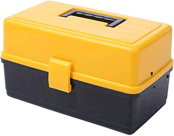 HRYP Caja de Herramientas de plástico vacía, Piezas pequeñas, Gran Herramienta, con Cubierta de plástico, se Puede perforar el candado, Color Naranja, 34 x 20 x 22,2 cm: Amazon.es: Hogar