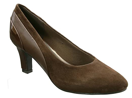 David Tate Sexy Womens Pumps-Shoes, Brown Kid Suede Pat, Size - 9.5