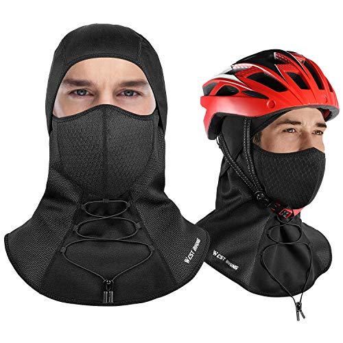 Windproof Balaclava Fleece, Full Face Ski Mask Cover Men Women, Windbreak Hat Warm, Winter Thermal Fleece Face Head Hood, Fit Helmet Hat Skiing, Cycling, Motorcycle, Outdoor Sports - Adult Universal ()