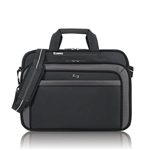 Solo Computer (Solo Empire 17.3 Inch Laptop Briefcase, TSA Friendly, Black/Grey)