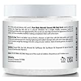 Exfoliating Body Scrub with Hydrating Coconut Milk and Detoxifying Dead Sea Salt, Moisturizing Face Scrub and Mask, Exfoliating Foot Scrub, Soothing Eczema Treatment by Pure Body Naturals, 12 Ounce