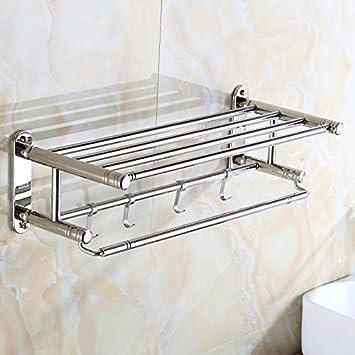 SYDLJ Acero inoxidable 304 toallas toallas de baño toallas de baño colgador de baño de acero inoxidable, 8865: Amazon.es: Hogar