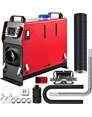 Happybuy 8KW Diesel Heater 12V Diesel Air Heater Muffler Diesel Parking Heater Remote Control with LCD Switch for Car Bus Trucks Motor-Home and Boats