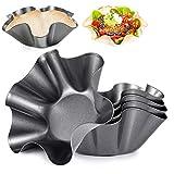 Amytalk 10 Packs 6.4inch Tortilla Pan Tortilla Maker Taco Shell Maker Salad Bowl Taco Pan, Carbon steel