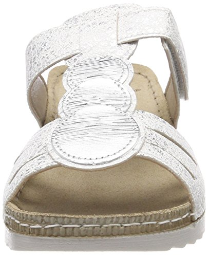 Silver Mules Femme 27216 White Blanc Jana nUH16x