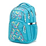 High Sierra Swerve Laptop Backpack, 17-inch Laptop Backpack for High School or College (Tropic Teal/Toucan/White)