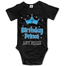 1st Birthday Prince Personalized Cute Unisex Baby Boy Girl Onesise