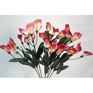 27 Calla Lilies Mauve Silk Flower Floral Arrangements Wedding Bouquet Centerpieces Artificial Flowers 66