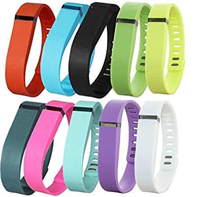 Dots Polka Dots Replacement Color Band with Clasp for Fitbit Flex , Band only no tracker included (Large/Small)
