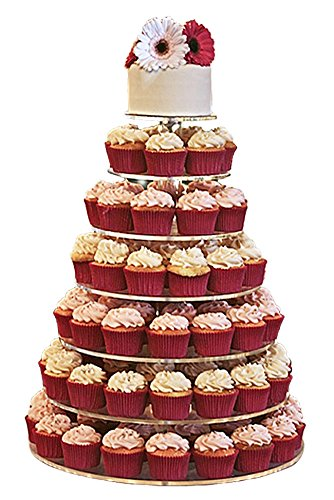 Jusalpha Large 7-tier Acrylic Round Cake Stand-cupcake Stand- Dessert Stand-tea Party Serving Platter for Wedding Party (7R Large) -