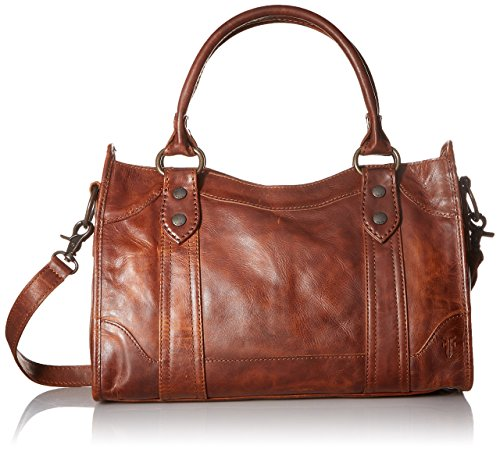 (FRYE Melissa Satchel Handbag,Cognac,One Size)