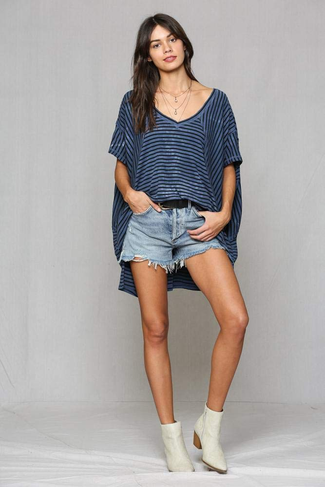 By Together Oversize Tunic Navy/Black by By Together (Image #1)