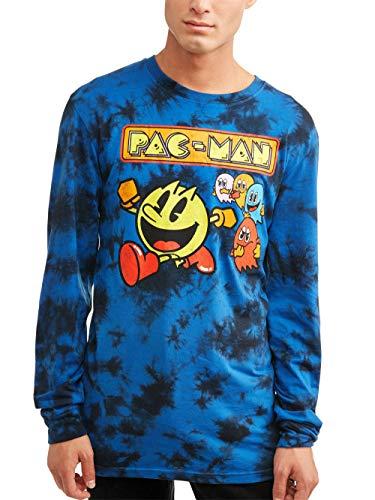 Men's Pac-Man Blue Long Sleeve Shirt, X-Large Only