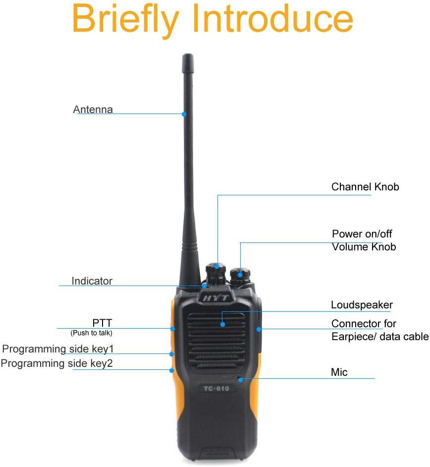 HYT TC-610 TC610 UHF Radio 5 Watt 16 Channel 2-way Radio UHF Walkie Talkie X
