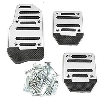 3 pcs Universal Pedal de acelerador de coche,Funda de pedal de freno antideslizante,