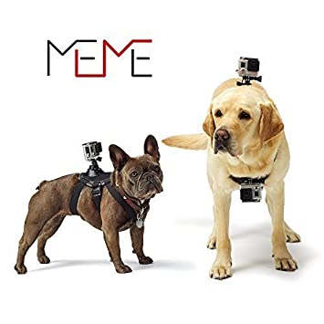 Meme Pet Arnés del perro pecho Fetch correa para GoPro Hero 4 3 + ...